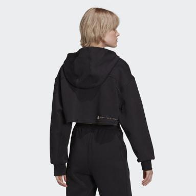 Ženy adidas by Stella McCartney černá Mikina adidas by Stella McCartney SC Cropped Full Zip