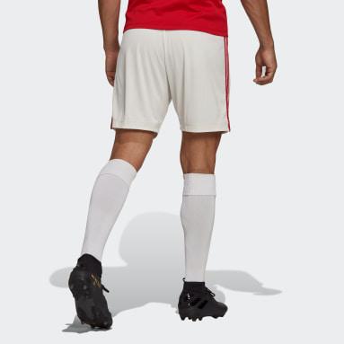 Fodbold Hvid Manchester United 21/22 hjemmebaneshorts