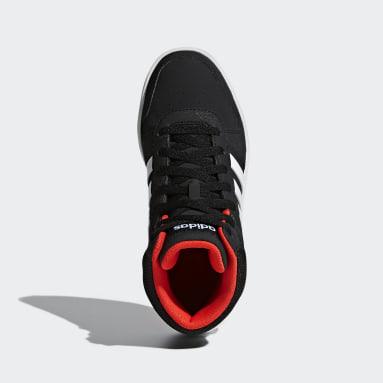 Kids Sport Inspired Black Hoops 2.0 Mid Shoes