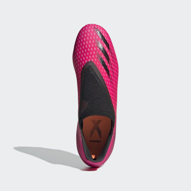 Voetbal Roze X Ghosted.3 Laceless Firm Ground Voetbalschoenen