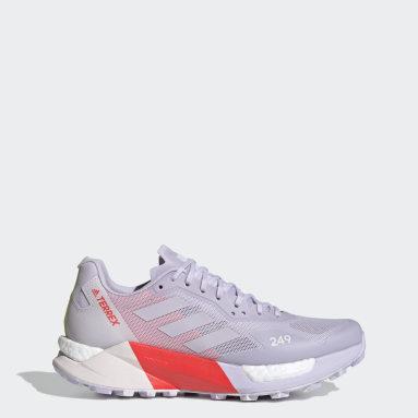 Women TERREX Purple Terrex Agravic Ultra Trail Running Shoes