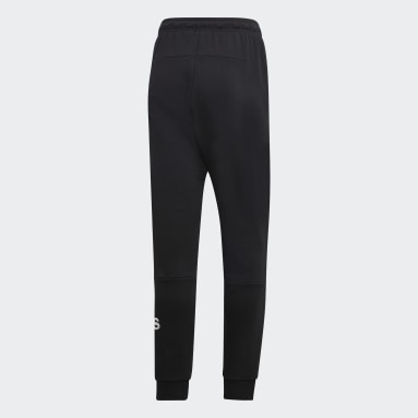 Men Essentials Black Must Haves French Terry Badge of Sport Pants