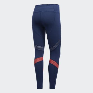 Calça Legging How We Do 7/8 Azul Mulher Running