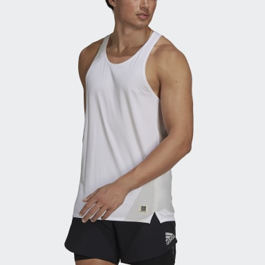 T-shirt sans manches Made To Be Remade Running Blanc Hommes Running