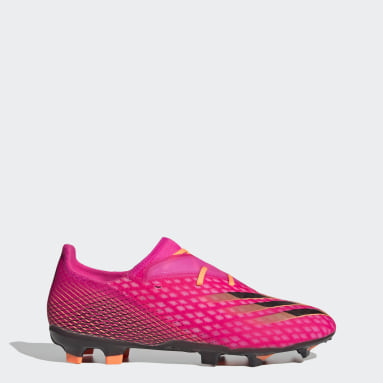 Heren Voetbal Roze X Ghosted.2 Firm Ground Voetbalschoenen