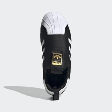 Çocuklar Originals Siyah Superstar 360 Ayakkabı