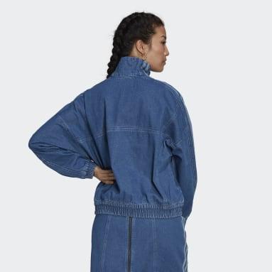 Sudadera Adicolor Denim Cropped Azul Mujer Originals