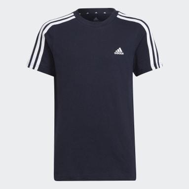 Youth 8-16 Years Sportswear Blue adidas Essentials 3-Stripes T-Shirt