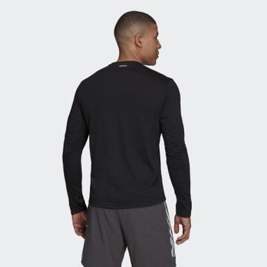 Men Running Black Fast Graphic Long Sleeve T-Shirt