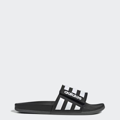 Swim สีดำ รองเท้าแตะ Adilette Comfort Adjustable