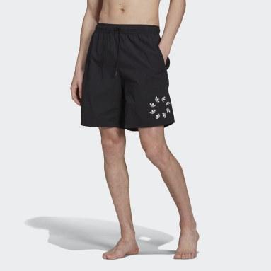 Shorts de Natación Adicolor Trifolio Shattered Negro Hombre Originals