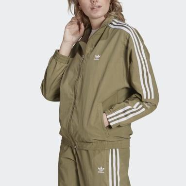 Women Originals Green Adicolor Classics Lock-Up Track Jacket