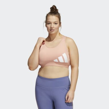 Brassière Believe This Medium-Support Workout Logo (Grandes tailles) Rose Femmes Trail Running