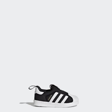 Infant & Toddler Originals Black Superstar 360 Shoes