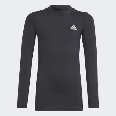 T-shirt AEROREADY Warming Primegreen Long Sleeve Noir Garçons Fitness Et Training