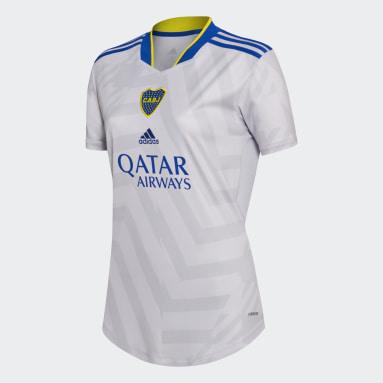 Camiseta Visitante Boca Juniors 21/22 Gris Mujer Fútbol