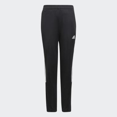 Girls Football Black Tiro Track Pants