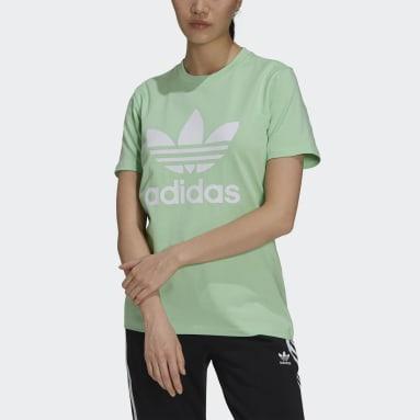 T-shirt adicolor Classics Trefoil Verde Donna Originals