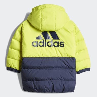 Kids Gym & Training Yellow Colorblock Down Jacket