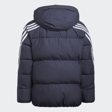 Kids Gym & Training Blue 3-Stripes Down Jacket