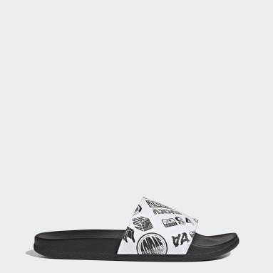Yoga White Adilette Comfort Sandals