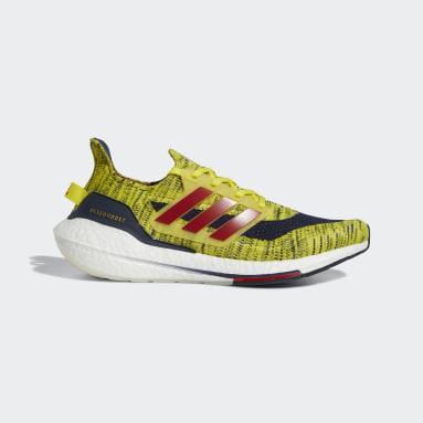 Running Yellow Ultraboost 21 Copa America Shoes
