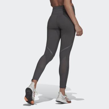 Women's Running Grey How We Do Long Tights