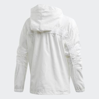 Veste adidas W.N.D. Primeblue Blanc Filles Sportswear