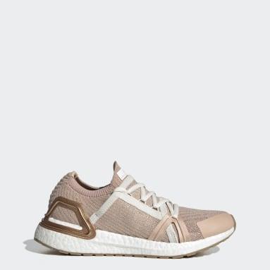 ผู้หญิง วิ่ง สีเบจ รองเท้า adidas by Stella McCartney Ultraboost 20