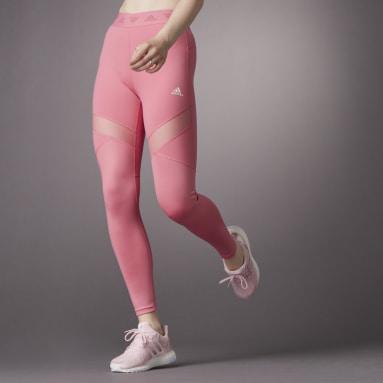 Mallas Largas Hyperglam Corte Alto Rosa Mujer Training