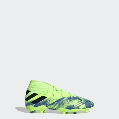 Zapatos de Fútbol Nemeziz 19.3 Terreno Firme Verde Niño Fútbol