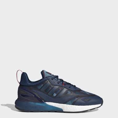 Men Originals Blue Arsenal ZX 2K Boost 2.0 Shoes