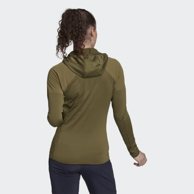 Cortavientos Terrex Skyclimb Fleece Verde Mujer TERREX
