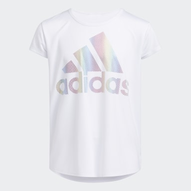 Youth Training White Rainbow Foil Tee (Extended Size)