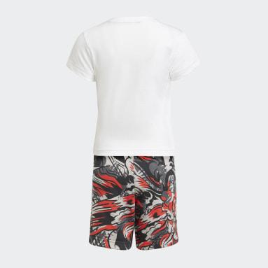 белый Комплект: футболка и шорты Summer