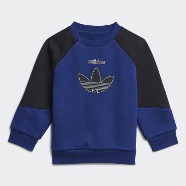Conjunto sudadera y pantalón adidas SPRT Azul Niño Originals