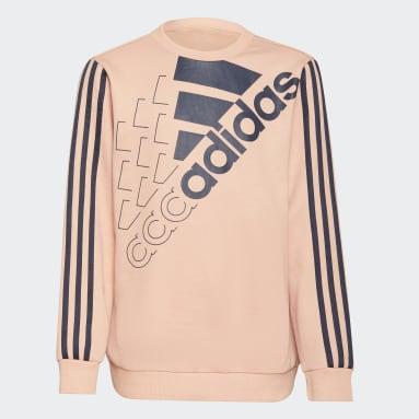 Felpa adidas Essentials Logo (Gender neutral) Rosa Bambini Sportswear