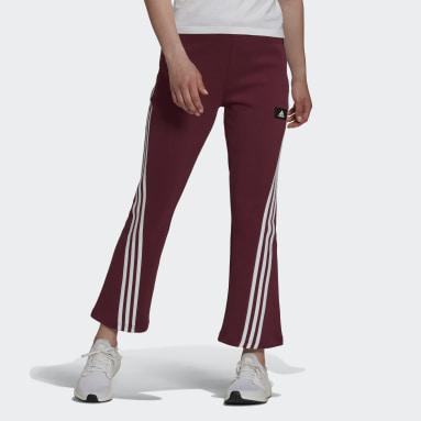 Women's Sportswear Burgundy adidas Sportswear Future Icons 3-Stripes Flare Pants