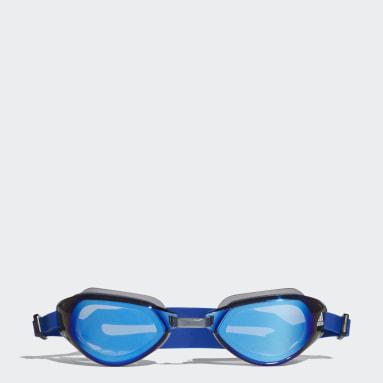 Swimming Blue persistar fit mirrored swim goggle