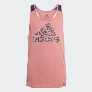 Canotta adidas Designed To Move Leopard Rosa Ragazza Sportswear