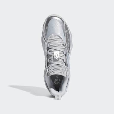 บาสเกตบอล สีเทา รองเท้า Dame 7 EXTPLY