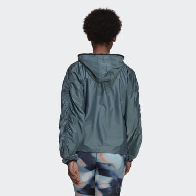 Cortavientos con capucha You for You Verde Mujer Sportswear