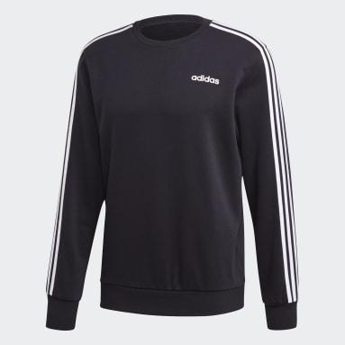 Sudadera Essentials 3 bandas Negro Hombre Sportswear