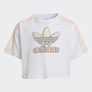 Camiseta corta Marble Logo Graphic Print Blanco Niña Originals
