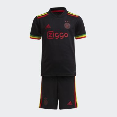 Miniconjunto tercera equipación Ajax 21/22 Negro Niño Fútbol