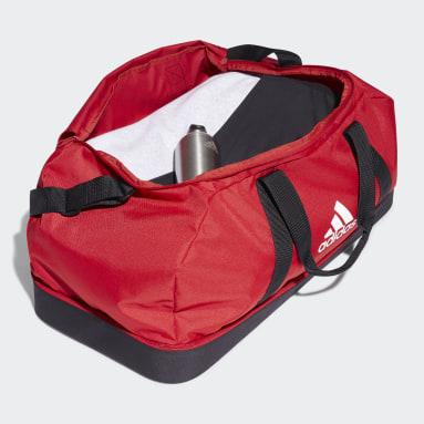 Sac en toile Tiro Primegreen Bottom Compartment Grand format Rouge Football