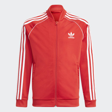 Youth 8-16 Years Originals Red Adicolor SST Track Top