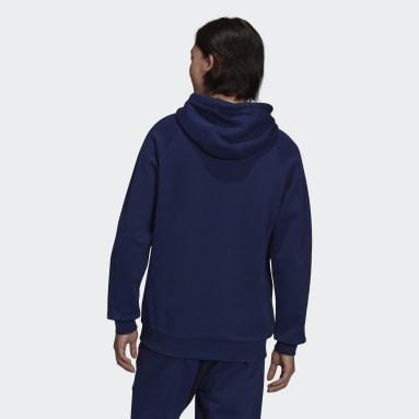 Men Originals Blue Adicolor Shattered Trefoil Hoodie