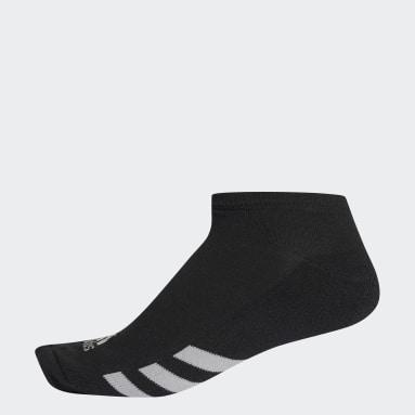 Men Golf Black Single No-Show Socks