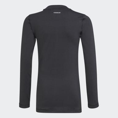 Boys Gym & Training Black AEROREADY Warming Primegreen Long-Sleeve Top
